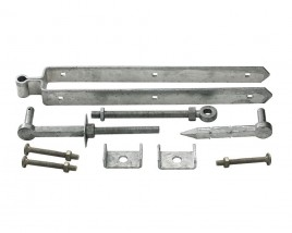 adjustable bottom fieldgate hinge set