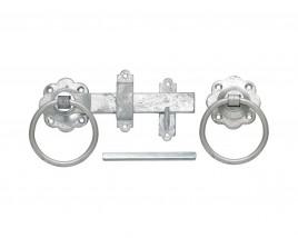 Plain Ring Handle Gate Latch - Galvanised Finish